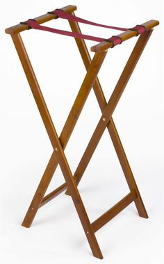31 Wooden Folding Tray Stand Mahogany Trays
