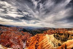 """Montana may be """"Big Sky Country"""", but pair these awesome cloud formations with equally awesome rock formations, and Cedar Breaks is unmatched."""