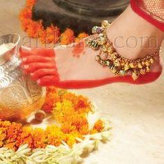 Bridal payal anklet