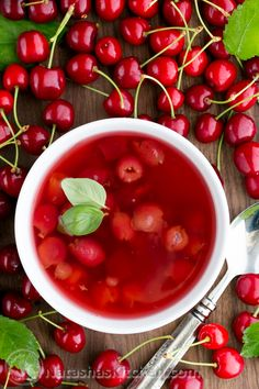 This Cherry Summer Soup (Kissel Recipe) is such a treat! @natashaskitchen