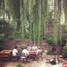 A real dream - my beautiful friend's beautiful backyard in Greenpoint, Brooklyn.