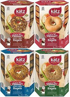 Katz Gluten Free Bagel Variety Pack 1 Everything Bagel 1 Plain Bagel 1 Poppy Seed Bagel 1 Sesame Bagel -- Read more at the image link.