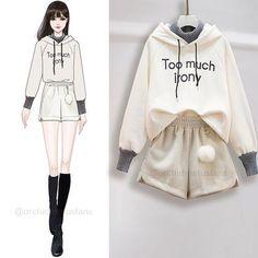 Girls Fashion Clothes, Teen Fashion Outfits, Cute Fashion, Tomboy Outfits, Cute Comfy Outfits, Cool Outfits, Fashion Drawing Dresses, Korean Girl Fashion, Fashion Design Sketches