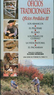 DVD DOC 187 - Oficios tradicionales (2004) España. Dir: Eugenio Monesma. Documental. Contén, entre outros: DVD 1: Los abanicos. El pelotari. El lino. La vida pastoril. El pacharán - DVD 2: La caza. La pesca. Los tambores. Los romanos - DVD 3: Los cortadores de madera. La fundición. Félix, el botero. Alfredo, el curtidor - DVD 4: El hojalatero. Olegaria, la alfarera. Las palilleiras. El vidrio - DVD 5: La gaita de boto. El forrador de gaitas. Marmolejo, el orfebre. El centeno - El techador.