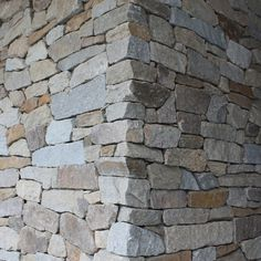 Cotswold Dry Walling is a rustic interlocking stone in natura browns and greys. Makes for a stunning feature wall. Wall Cladding Tiles, Stone Cladding, Stone Feature Wall, Feature Walls, Stone Retaining Wall, Redford House, Dry Stone, Backyard Projects, Stone Work
