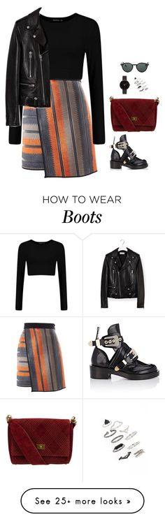 """#2795"" by azaliyan on Polyvore featuring MSGM, Balenciaga, Chanel, Yves Saint Laurent, I Love Ugly, Topshop and Ray-Ban"