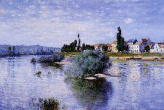 Lavacourt, huile sur toile de Claude Monet (1840-1926, France)