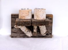 Handmade Rustic Candle Holder by RevivalVintageStudio on Etsy, $26.00