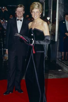 1989 - Diana debuted this Victor Edelstein design at the premiere of Dangerous Liaisons, but it more famously appeared on the cover of Life magazine after her death.  GETTY