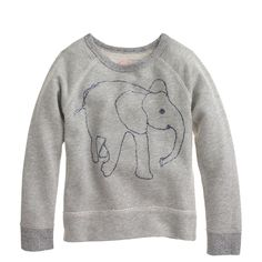 Good on you, @JCrew! 100% of the net proceeds from the sale of their children's sweatshirt will be donated to David Sheldrick Wildlife Trust. Sketch by Brooklyn-based illustrator Hugo Guinness. @jcrew