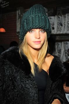 Erin Heatherton in Lion Zion hat