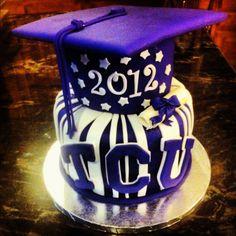 Matthews grad cake but change TCU to PNG
