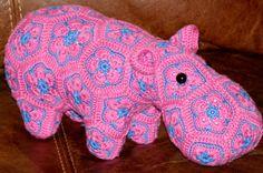 Happypotamus the Happy Hippo // Crochet // by EmstiCrocheteria, £40.00