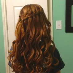 Kami's hair for homecoming!