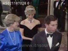 Princess Diana in Bonn, Germany: Charles and Diana attended a state banquet. Date: 2.11.87