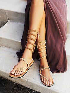 109 Best Ladies Flat Sandals images | Sandals, Flat sandals