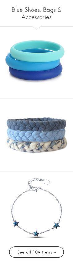 """Blue Shoes, Bags & Accessories"" by carlou863 on Polyvore featuring jewelry, bracelets, bracelets bangle, bangle bracelet, cobalt jewelry, bangle jewelry, hinged bangle, woven bracelet, woven friendship bracelet et macrame bracelet"