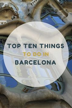 "Top Ten Things To Do in Barcelona, Spain on a Budget: Barcelona might be best know as the ""City of Gaudí"" but there is so much more to it than that. We spent over a month in Barcelona recently and fell in love with its rich history, vibrant, atmosphere, electric energy, thrumming nightlife, expressive people, and majestic views. The list reflects our selection of things to do in Barcelona on a budget."