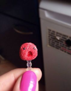 cute monster / Anti Dust Plug / Fimo/ Polymer Clay / by cleansweepstuff