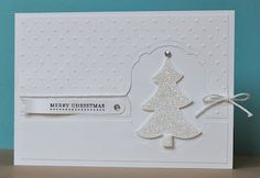 52 {Christmas} Card Throwdown: Top Honor and Honorable Mentions.  Nice monochromatic Christmas tree card :-)
