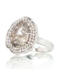 Diamond slice ring. Perfect as an engagement ring, anniversary ring, or ring hand ring! See the post at http://tulleandtwine.com/2013/11/11/diamond-slice-rings