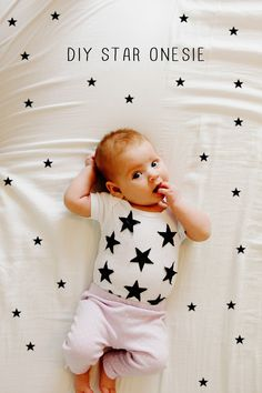 DIY star onesie - see kate sew