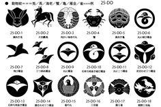 家紋、動物紋の一例