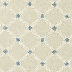 Cressida - Denim fabric, from the Bloomsbury collection by Clarke and Clarke Teal Fabric, Denim Fabric, Clarke And Clarke Fabric, Made To Measure Blinds, Painted Rug, Trellis Pattern, Fashion Wallpaper, Curtains With Blinds, Arts And Crafts Movement