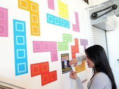 Pixel Tiles Genius For Making Cool Backdrop Or Reception Decor -  auto decals and magnets