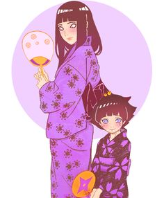 himawari with her mother