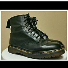 DR MARTEN ORIGINAL BOOTS....SIZE 8-8.5 US SIZE Has some wear but sole and shoe still has a lot of life left.  Size 6.5 UK size. Dr. Martens Shoes Combat & Moto Boots