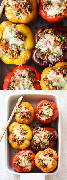My favorite Stuffed Bell Peppers Recipe | foodiecrush.com