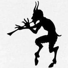 Billedresultat for satyr Pan Mythology, Devil Tattoo, Halloween Silhouettes, Legends And Myths, Demonology, Beste Tattoo, Art Challenge, Black Art, Occult