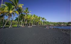 Punalu'u Beach, una playa de arena negra en Hawái