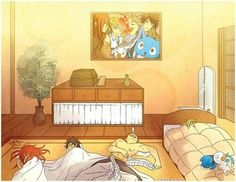 Fairy Tail   Lucy, Natsu, Gray, Erza, Happy, and Plue