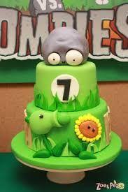 Resultado de imagen para cumpleaños tematico de plants vs zombies
