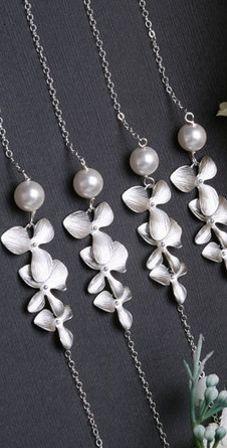 bridesmaid necklaces!