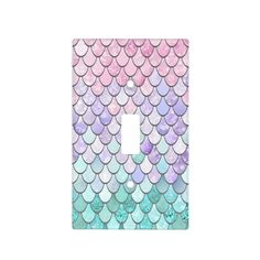 Mermaid Decor Light Switch Cover Pastel - girl gifts special unique diy gift idea - May 11 2019 at Bedroom Themes, Girls Bedroom, Bedroom Decor, Bedroom Ideas, Decor Room, Home Decor, Design Seeds, Mermaid Bathroom Decor, Mermaid Nursery Theme
