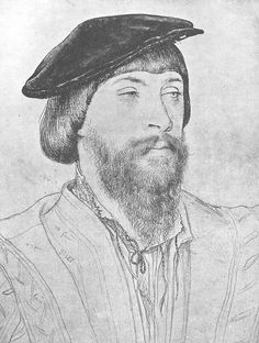 Tudor bonnets for men and women. Image of Thomas, Lord Vaux