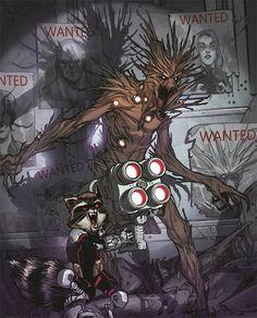 Groot and Rocket Raccoon #comics #art