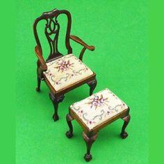 Rose Thomas Collection Miniature Victorian Chair Automan Signed Robert A Chucka | eBay