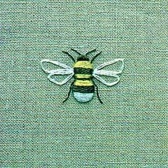 embroider a bee