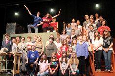 "The students of Avonworth High School rehearse for ""Sweeney Todd: The Demon barber of Fleet Street."""