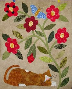 The Civil War Bride Quilt: cat block