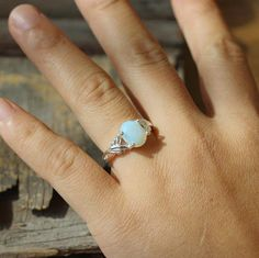 Gemstone Moonstone ring fashion jewelry gift for her 5$