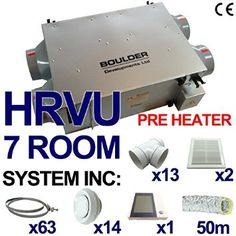 HRVU 200SQM FULL SYSTEM HEAT RECOVERY VENTILATION KIT WITH PRE HEATER DHV-20B H: Amazon.co.uk: DIY & Tools