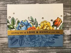 May 2018 – Jackie's Craft Table Flower Stamp, Flower Cards, Card Making Techniques, Cool Cards, Diy Cards, Simon Says Stamp, Watercolor Cards, Card Kit, Scrapbook Cards