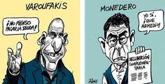 El líder de Podemos no escapa a la ironía del dibujante.