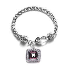 Dental Assistant Braided Charm Bracelet