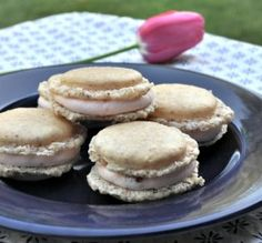 Hazelnut Macarons with Strawberry Buttercream Filling Recipe
